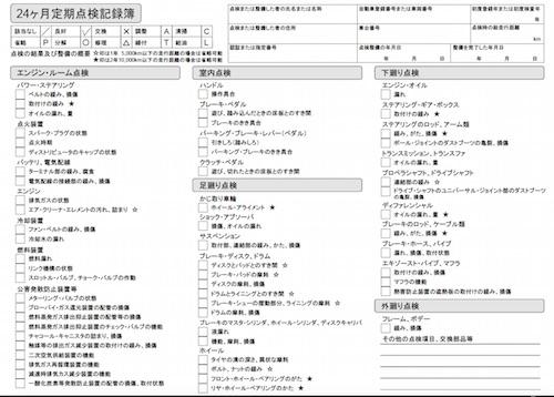 定期点検記録簿